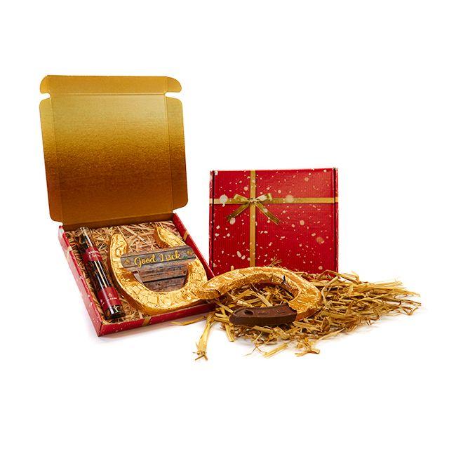 Geschenkdoosje met hoefijzer en Santa's Choice thee