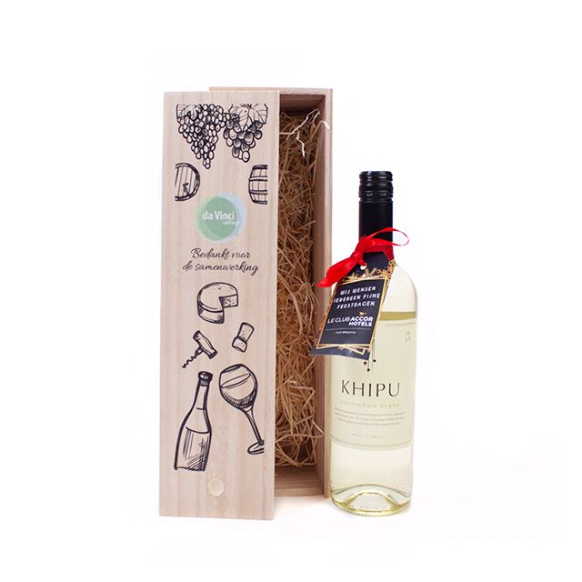 Khipu Chardonnay in houten kist