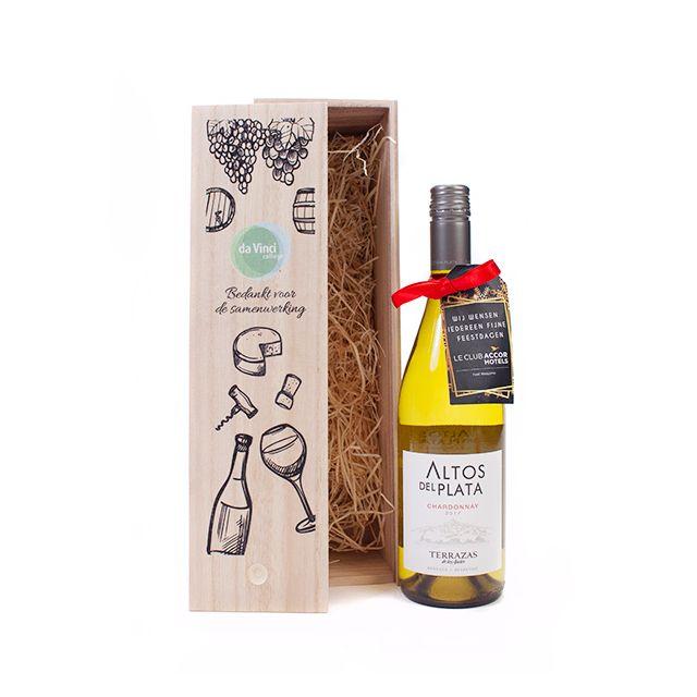 Bedrukt wijnkistje Chardonnay 2017