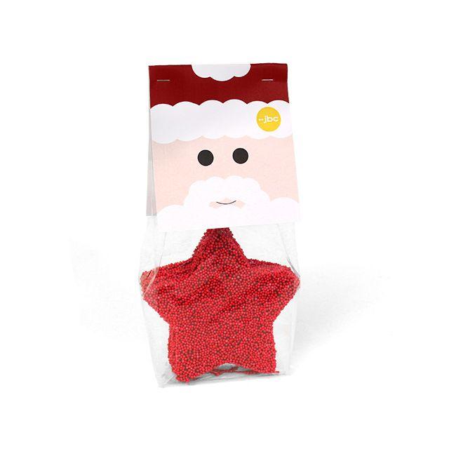 5 Rode chocolade kerststerren