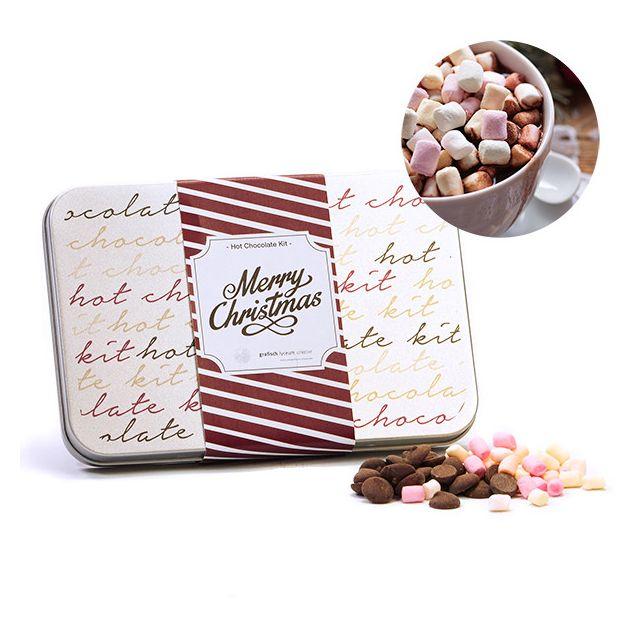 Rechthoekig blik met Hot Chocolate Kit