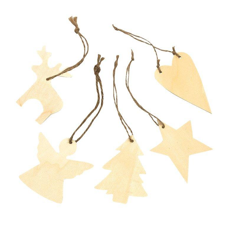 Houten kersthangers