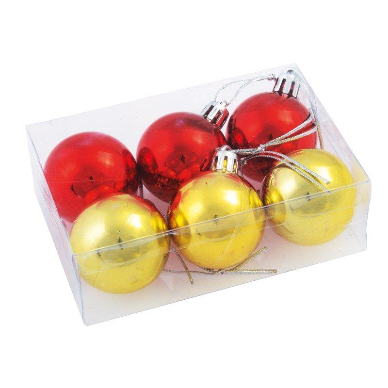 Kerstballen goud rood