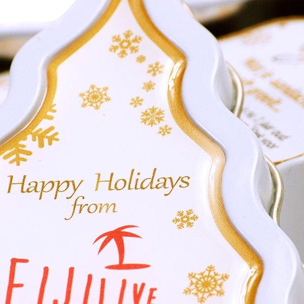 Kerstboomblik kweekset - doming sticker