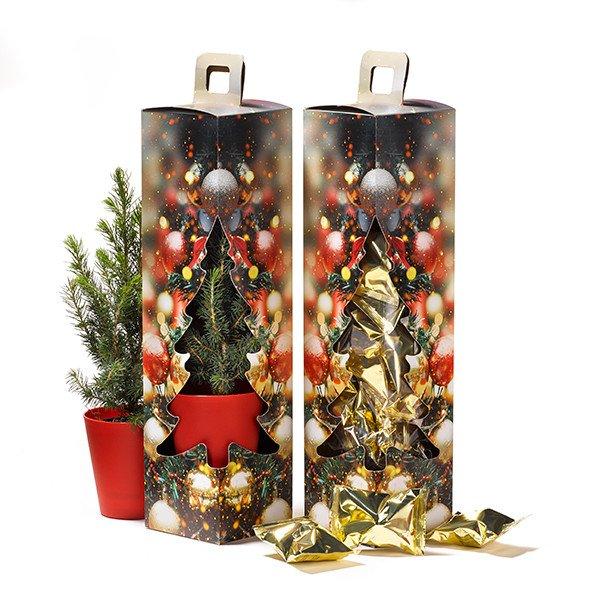 kerstboom in geschenkdoos + fortune cookies