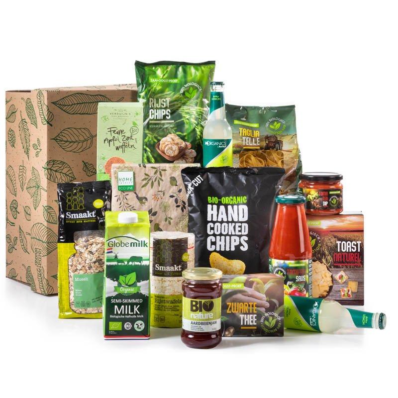 Groen kerstpakket biologisch designed