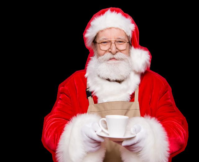 Betrokken kerstman